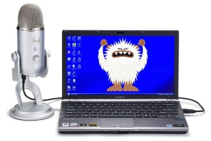 Blue Microphones Yeti mit Laptop